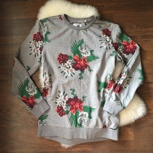 On The Byas floral grey sweatshirt tunic